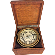 Antique David Baker Compass and Box Boston MA Patented 1874 to 1875 Brass Compass Body & Gimbal Ring