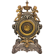 Antique Ansonia Clock Lydia Model w/ Serpents Cherubs Rams Head Womens' Busts and Eagle Detailing Not Running 1894-5