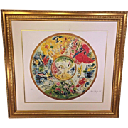 Marc Chagall Interpretation Paris Opera Ceiling Ltd Edition Print Framed & Matted