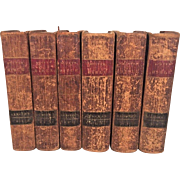 1810 The Holy Bible Books 6 Vols by Thomas Scott Publ Whiting & Watson New York  1810 to 1812 Second Edition