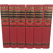 Abraham Lincoln 6 Vol Set by Carl Sandburg Sangamon Edition in Original Wood Crate w/ Dust Covers 1951