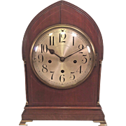 Rare Winterhalder & Hofmeier Bracket Clock 8 Bell Chime or 4 Wire Gong w/ Another Gong Wire Strike Chimes  Not Running?\