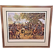 Don Troiani Ltd Ed Print Hamton's Duel Battle of Gettysburg  Hand Signed and Numbered #329/1500    Framed & Matted 1995