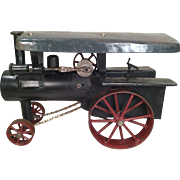 Vintage Handmade Metal Steam Traction Engine Non-Operating