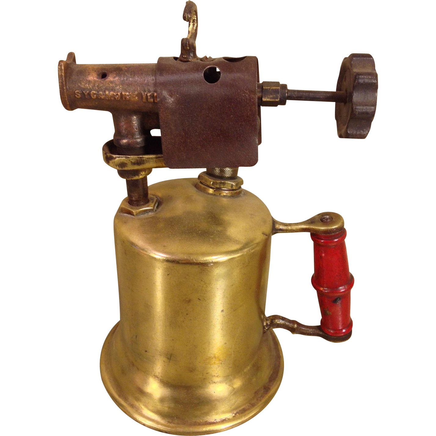 Antique Turner Brass And Copper Blow Torch Sycamore Ill