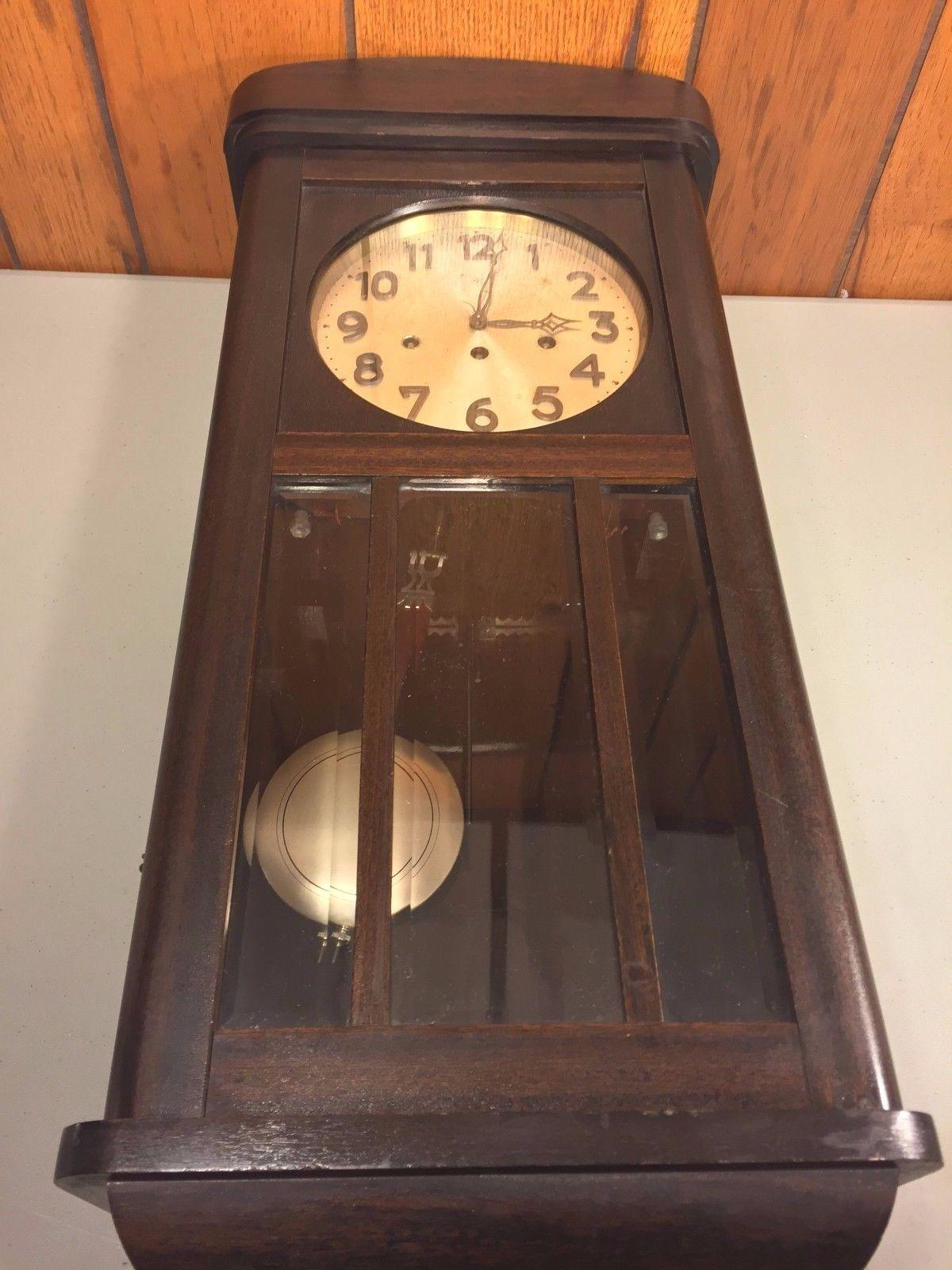Vintage Junghans Wall Clock With Westminster Chimes Runs