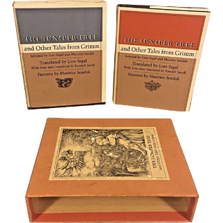 The Juniper Tree and Other Tales from Grimm 2 Vol Set 1973 Lore Segal & Maurice Sendak Published by Farrar, Straus & Giroux of New York