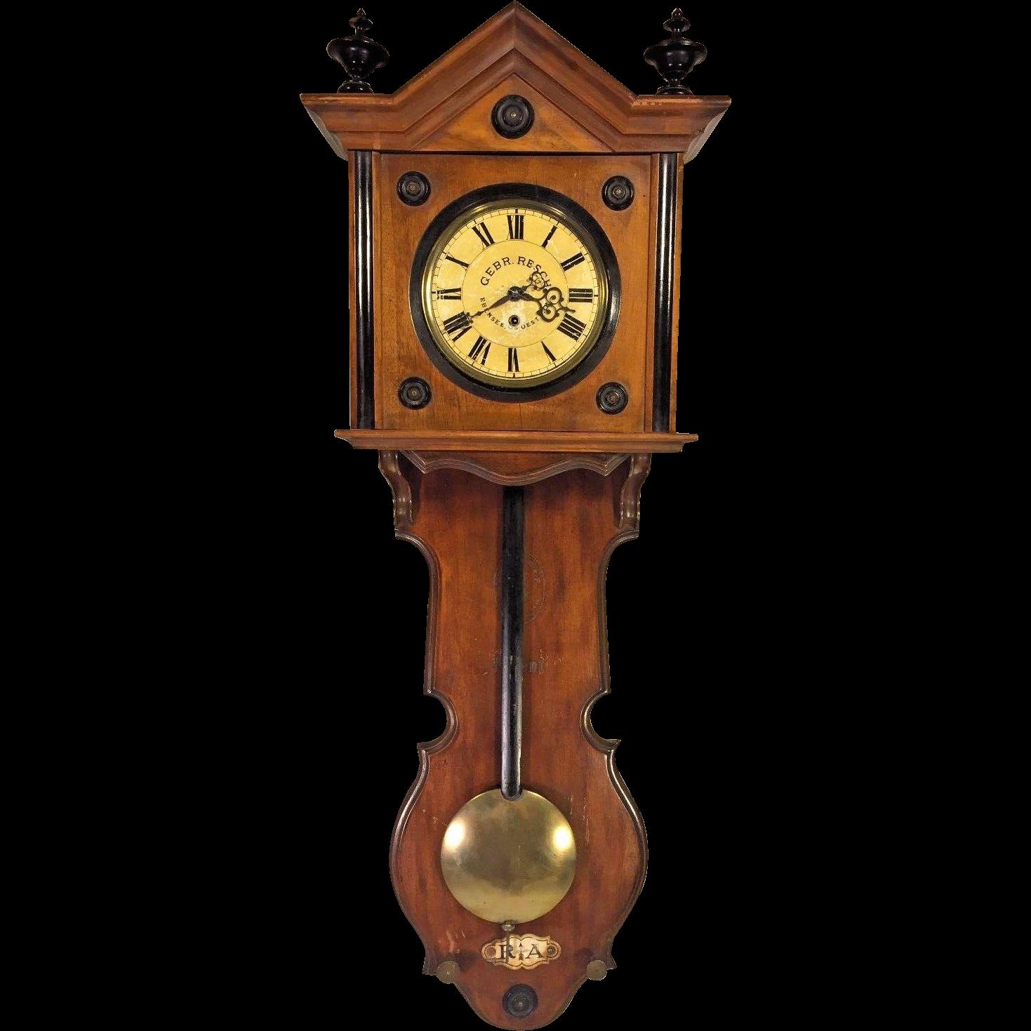 Antique Gebrueder Resch Free Swinger Wall Clock Time Only ...