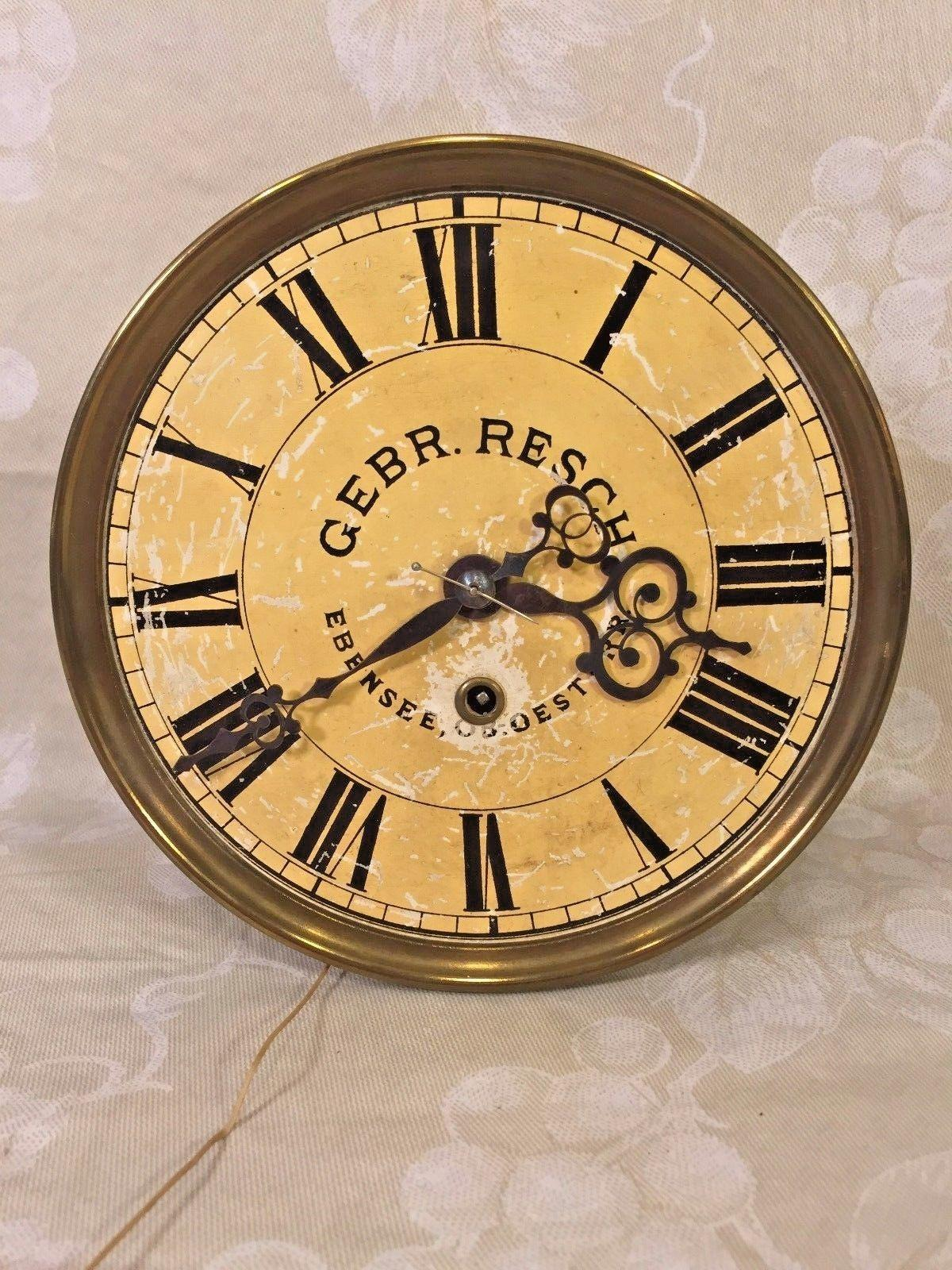 Antique gebrueder resch free swinger wall clock time only great roll over large image to magnify click large image to zoom amipublicfo Image collections