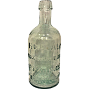 Antique Clear Glass Druggist Bottle H C Blair Philadelphia PA