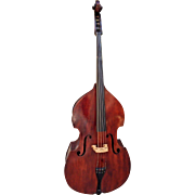 Vintage Anton Schroetter Upright Bass Viol Nice Intact Body Neck Tuners and Scroll Soundpost Up Germany