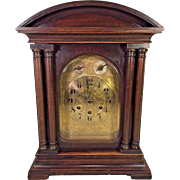 Antique Gustav Becker Bracket Clock Westminster Chimes Runs Strikes & Chimes P14 Movement 8 Strike Hammers