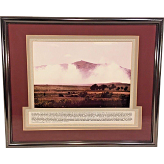 Vintage Photo of Signal Mountain in Oklahoma   Framed & Matted