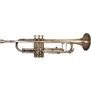 Antique M J Kalashen Trumpet with Case & Mouthpiece (Conn Stencil Trumpet)