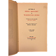 Letters of Henry Brevoort to Washington Irving 1916 George Hellman Publ G P Putnam's Sons NY