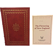 The Flowering of New England 1861-1865 by Van Wyck Brooks Franklin Library Leather Covers  24K Gold Gilt End Pages 1979