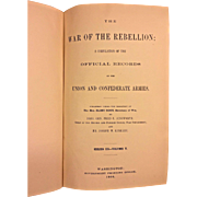 The War of the Rebellion 1900 Series III Volume 5 Only A Compilation of the Official Records of the Union and Confederate Armies - Union Correspondence Etc