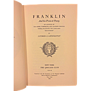 Vtg Book Franklin and His Press at Passy by Luther Livingston 1967 Kraus Reprint Corporation New York
