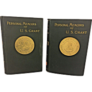 Personal Memoirs of US Grant by Ulysses Grant 1st Edition 1885-1886 2 Volume Set Charles L Webster NY Books Owned by Capt Heber Thompson of the 7th Pennsylvania Cavalry