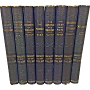 Campaigns of the Civil War 8 Volumes  by Various Authors Charles Scribner's Sons 1881 (Not a Complete Set - Should be 13 Volumes) 1st Edition Owned by Capt Heber Thompson of the 7th Pennsylvania Cavalry