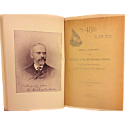 The 48th in the War by Oliver Bosbyshell 1895 Prtd by Avil Printing Philadelphia First Edition Book Book Owned by Capt Heber Thompson of the 7th Pennsylvania Cavalry
