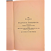 The Works of Flavius Josephus Volume 1895 by William Whiston Lippincott Publisher Philadelphia PA