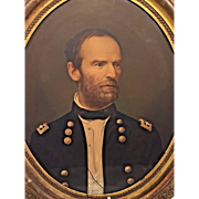 General William Tecumseh Sherman Chromolithograph Middleton & Co  Civil War 1865 Civil War Union General