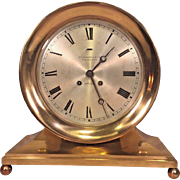 Chelsea Commodore Ships Bell Clock 1905 Running Serial #17257 Not Striking  Beautiful Brass Case and Base  Distributed thru J E Caldwell