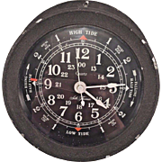 Vintage Seth Thomas Wall Tide Clock Seasprite II Model Quartz Movement Running