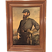 Vtg Stonewall Jackson Print after Painting by John A Elder from David Bendann's Gallery in Baltimore Framed