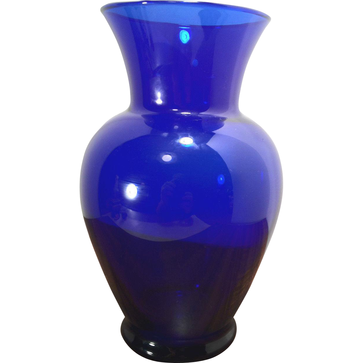 vintage blue glass vase from timelesstokensde on ruby lane. Black Bedroom Furniture Sets. Home Design Ideas