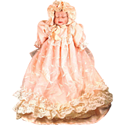Belombre China Doll Les Poupees Handmade in Italy Pink Dress with Lace Arianna