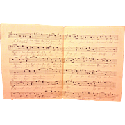 Antique German Sheet Music Handwritten Words Latter 1800s Das Herz Am Rhine Chrishmus Composed by Wilhelm Hill