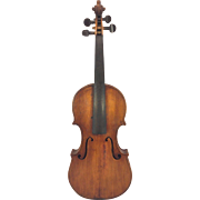 Antique American Violin Mid-19th Century 2 Piece Front 1 Piece Back No Makers Label