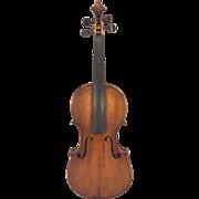 Antique American Violin Mid-19th Century 2 Piece Front 1 Piece Back No Makers Label