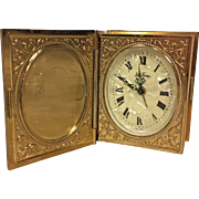 Vintage Seth Thomas Memento Clock w/ Luminous Dial Runs Shaped Like Book for Pics in Original Box