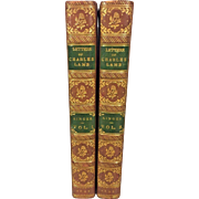 The Letters of Charles Lamb by Alfred Ainger 2 Vols 1897 Macmillan & Co Ltd Leather Covers Highly Detailed Spines