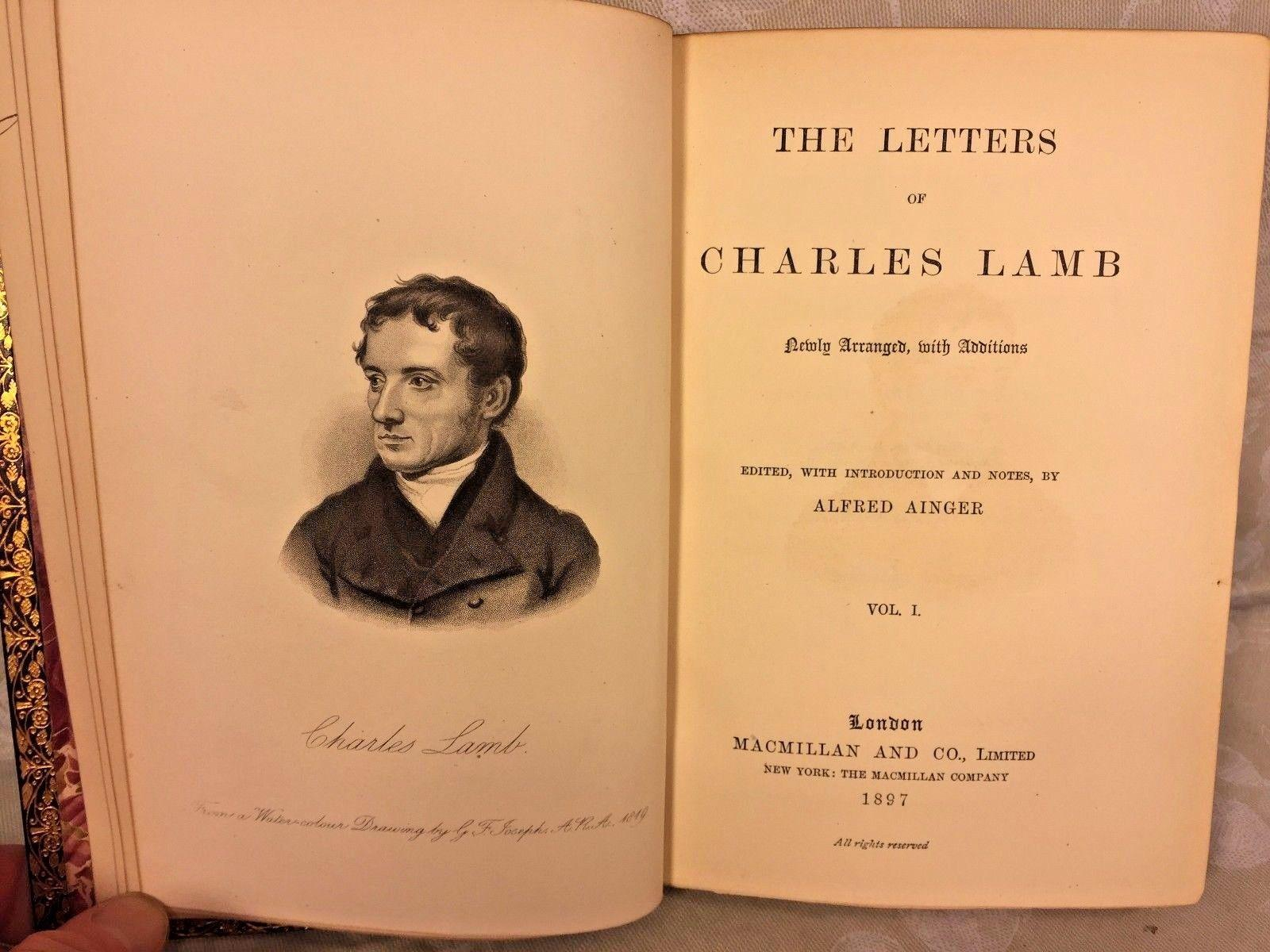 charles lambs letter to wordsworth Of charles mary lamb has 160 books on goodreads with 9592 ratings mary lambs most popular book is  wordsworth vol 6 dorothy wordsworth a supplement of new letters .
