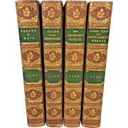 Various Works of Charles Lamb by Alfred Ainger 4 Vols 1897 Macmillan & Co Ltd Leather Covers Highly Detailed Spines