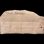 1781 Parchment Deed Indenture Philadelphia Peter Whiteside & Francis Knox  Antique Philadelphia PA Indenture