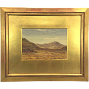 Henry Albert Hartland Watercolor Painting The Moors and Sheep Grazing 1875 Framed & Matted