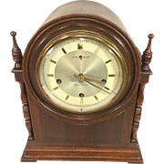 Vintage New Haven Durham Cathedral Mantel Clock w/ Westminster Chime Runs Inconsistently