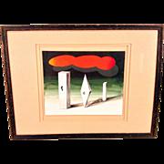 Seymour Zayon Modern Art Piece in Frame