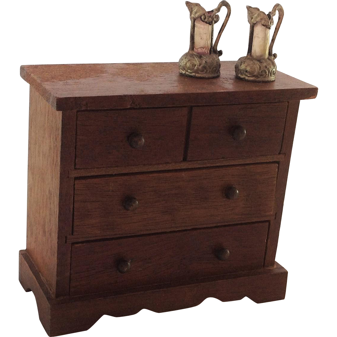 Nice Old Rustic Miniature Chest Of Drawers For Doll House