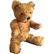 "Adorable, Vintage, Pedigree, Mohair, 15"" Teddy Bear, English. 1940s/50s"
