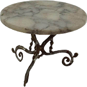 Nice Old Marble Top Occasional Table for Doll House. German