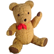 Very Cute Mid Century Vintage Haughtons British Teddy Bear. 1950s/60s