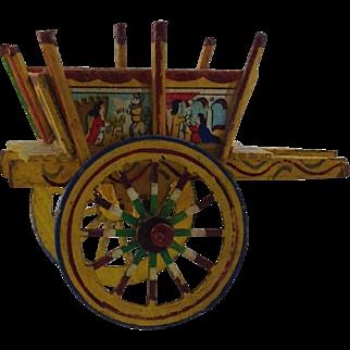 Vintage Miniature Cart. Ideal for Doll House. Folk Art.