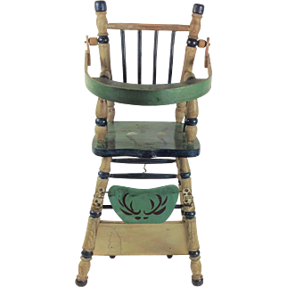 Adorable Metamorphic High Chair / Low Chair and Play Table for Doll.