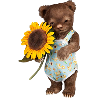 R. John Wright Dolls - Toddler Bear Christopher